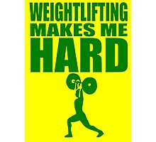 Funny Sport - Weight Lifting Makes Me Hard - green Photographic Print