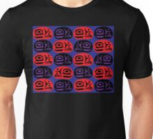 Red & Purple Ovoids Eagle Family Unisex T-Shirt