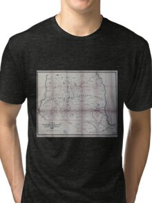 0425 Railroad Maps Map of part of New Hampshire and Massachusetts showing the location of the Wilton and other Tri-blend T-Shirt