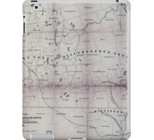 0425 Railroad Maps Map of part of New Hampshire and Massachusetts showing the location of the Wilton and other iPad Case/Skin
