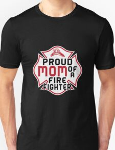Mom - Proud Mom Of A Firefighter T-shirts Unisex T-Shirt