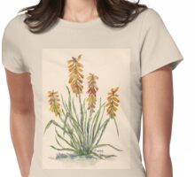 Kniphofia (Red Hot Poker) Womens Fitted T-Shirt