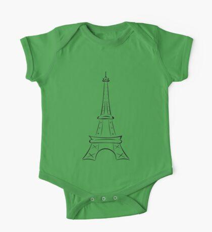 Eiffel Tower One Piece - Short Sleeve