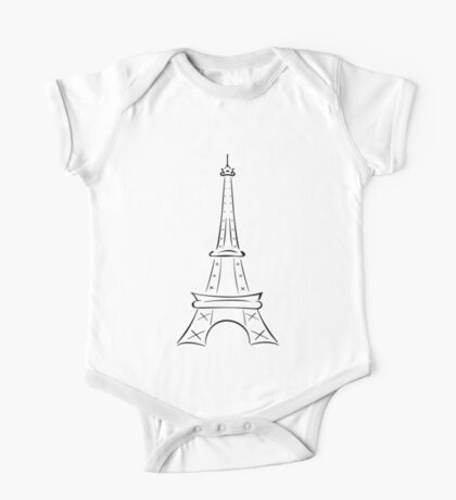 Eiffel Tower One Piece - Short Sleeve