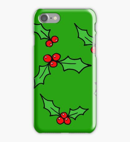 Green Holly iPhone Case/Skin