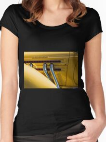 Yellow Super-Charged Women's Fitted Scoop T-Shirt