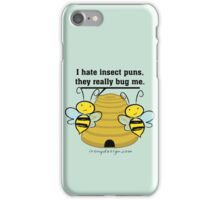Insect Puns Bug Me Funny Bumble Bees iPhone Case/Skin