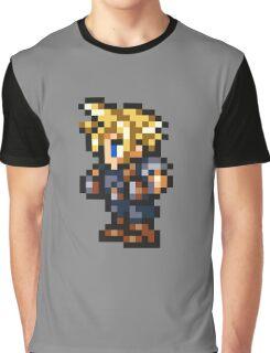-FINAL FANTASY- Cloud Pixel Graphic T-Shirt