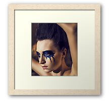 Beauty Girl's Face Framed Print