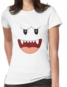 Mario ghost Womens Fitted T-Shirt