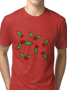 Red Holly Tri-blend T-Shirt