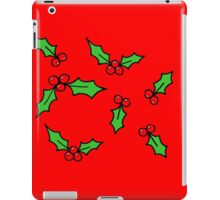 Red Holly iPad Case/Skin