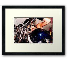 beautiful bikers Framed Print