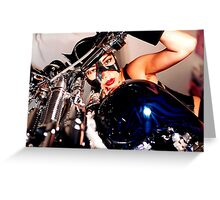 beautiful bikers Greeting Card