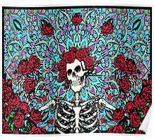 Grateful Dead - Skelton & Roses Poster