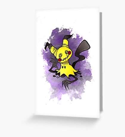 Mimikkyu Pokemon  Greeting Card