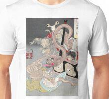 Pandoras Box - Yoshitoshi Taiso - 1880 - woodcut Unisex T-Shirt