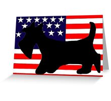 Scottie Dog 'Stars and Stripes' Greeting Card