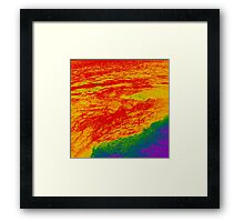 Ocean of Lava Framed Print