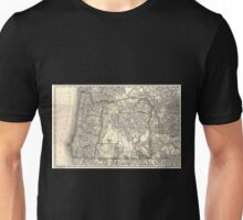 0160 Railroad Maps Indexed map of Oregon showing the railroads in the state and the express company doing business over each also counties lakes Unisex T-Shirt