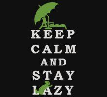 Keep Calm and Stay Lazy VRS2 Baby Tee