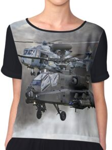 AgustaWestland Apache AH1 & AW159 Wildcat HMA2 Helicopters Chiffon Top