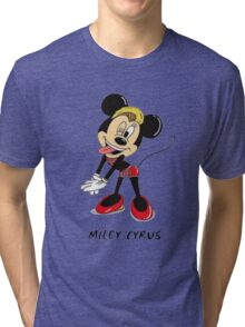 Minnie Cyrus (Miley Cyrus and Minnie Mouse Parody Mix) Tri-blend T-Shirt