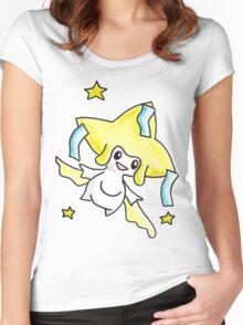 Jirachi Watercolour Women's Fitted Scoop T-Shirt