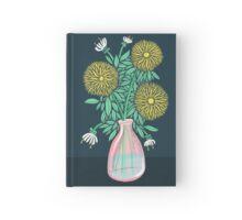 Chrysanthemum Bouquet Illustration Hardcover Journal