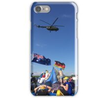 Helicopter over Concert iPhone Case/Skin