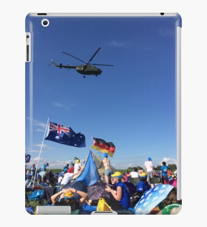Helicopter over Concert iPad Case/Skin