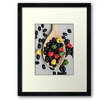 Black Beans & Bell Peppers Framed Print