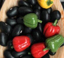 Black Beans & Bell Peppers Sticker