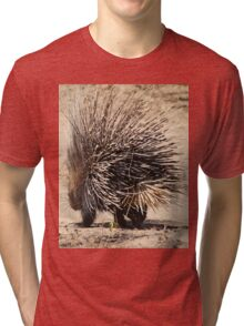 Porcupine and its Quills - African Wildlife Tri-blend T-Shirt
