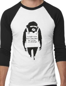 Banksy - Monkey in charge Men's Baseball ¾ T-Shirt