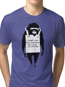 Banksy - Monkey in charge Tri-blend T-Shirt