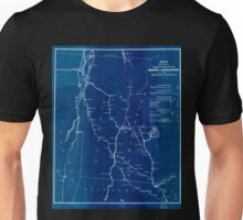 0050 Railroad Maps Map showing the proposed rail roads from Boston to Burlington from Hale's map of New Inverted Unisex T-Shirt