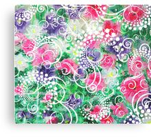 Swirly Dots by Jan Marvin Canvas Print