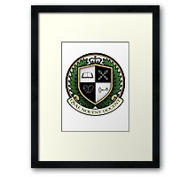 School of Hard Knocks University Crest Framed Print