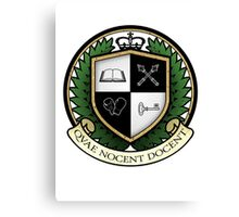 School of Hard Knocks University Crest Canvas Print