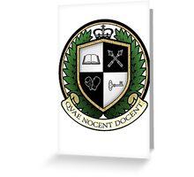 School of Hard Knocks University Crest Greeting Card