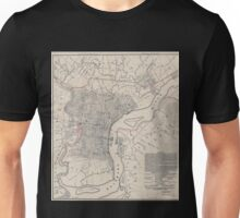0165 Railroad Maps Dedicated to the city of Philadelphia through the directors of the Pennsylvania Railroad Company plan no 2 exhibits the streets with the present railroads Unisex T-Shirt