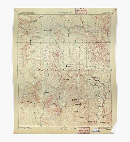 USGS TOPO Map Arizona AZ Prescott 315584 1892 250000 Poster