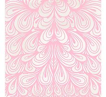 Pink Teardrop Floral Pattern Photographic Print