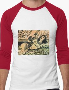 Egyptian Queen Cleopatra reclining on her bed Men's Baseball ¾ T-Shirt