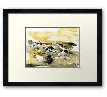 Abstract watercolor Framed Print