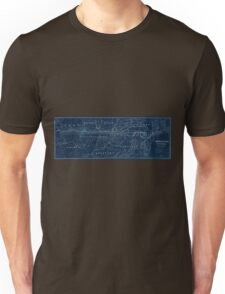 0186 Railroad Maps American Central Railway Inverted Unisex T-Shirt