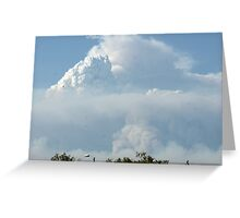 California Wildfires leave layers in the sky; Lei Hedger Photography All Rights Reserved 8/30/2009 Greeting Card