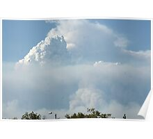 California Wildfires leave layers in the sky; Lei Hedger Photography All Rights Reserved 8/30/2009 Poster
