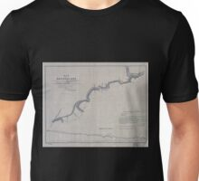 0421 Railroad Maps Map of railroad line commencing at a point on the West-Philadelphia R R 4 miles below its junction with the Columbia R R terminating at the R R bridge at Unisex T-Shirt